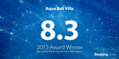Award Booking.com Aqua Bali Villa